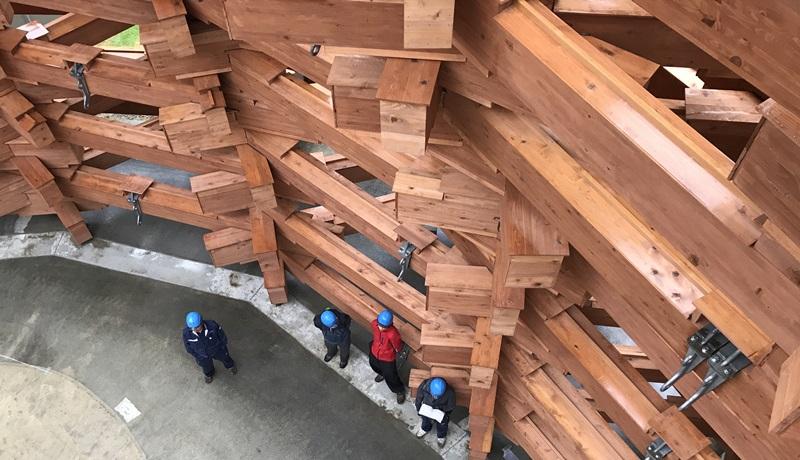 箱根 彫刻の森美術館 雪あかり取付け工事 (7)