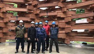 箱根 彫刻の森美術館 雪あかり取付け工事 (5)