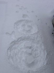 2010雪だるま地上絵。その2