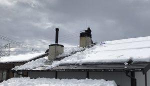 積雪時の煙突掃除5