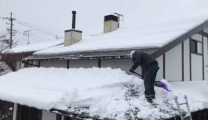 積雪時の煙突掃除3