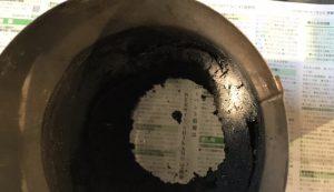煙突内の煤