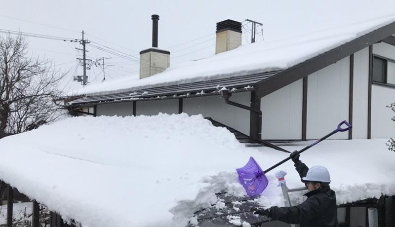 積雪時の煙突掃除2