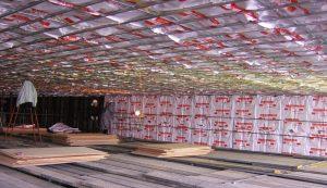 貯蔵庫の天井と壁のAIRIN®