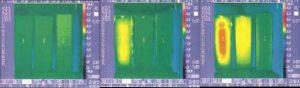 床暖房の熱ロスの赤外線画像